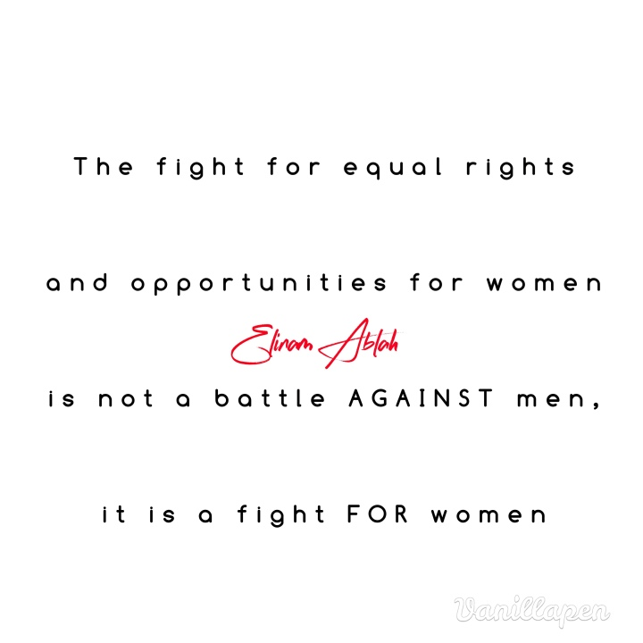 Basic rights and opportunities, that's what we fight for